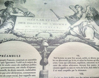 Fabulous and very French declaration des l'homme 1789 Poster