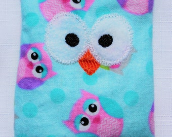 Ouchie Owl ~ Hot or Cold ~ Rice Pack - Girl Owls - Blue and Pink