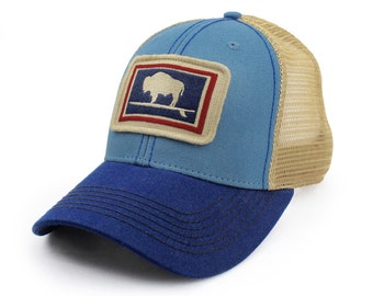 Everyday Trucker Hat, Structured, Surfing Wyoming Buffalo, Big Sky