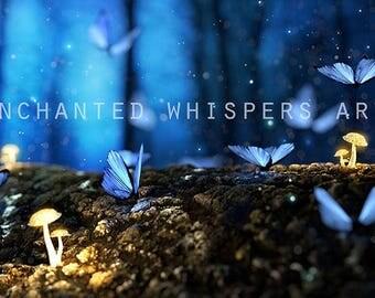 digital background, digital backdrop, fantasy backdrop, fairy background, forest background, Photoshop background, photography background