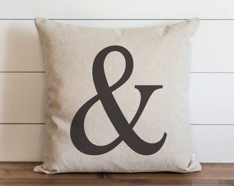 Ampersand 20 x 20 Pillow Cover // Everyday // & // Typography // Throw Pillow // Cushion Cover // Gift // Accent Pillow