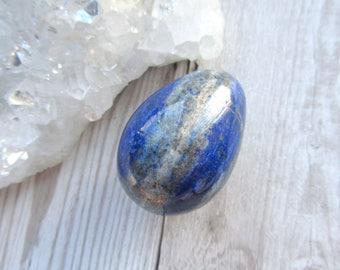 Lapis Lazuli Egg, Polished Gemstone Carving, Carved, Gift Gemstone