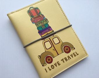 Family Passport holder for 2 passports - Passport cover - Passport wallet - Travel Case- Vegan Gift - Graduation Gift - Gift for Her for Him