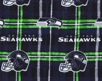 Seattle Seahawks NFL Flannel 100% Cotton 1/2 yard