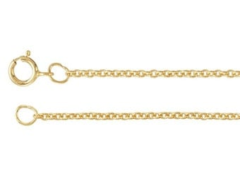 14K Gold Filled Cable Chain Necklace