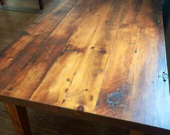 Reclaimed Pine Farm House Table ~Farm House Table ~ Rustic Table
