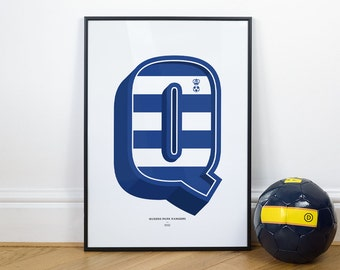 Q is for Queens Park Rangers, Football Typography Print
