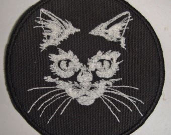 Iron-On Patch - GLOW-in-the-DARK CAT