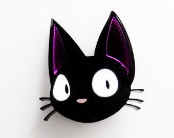 Jiji the cat brooch