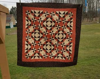 Civil War Reproduction Wallhanging Handmade Quilt