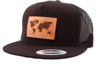 World Authentic Leather Patch 5-panel Snapback