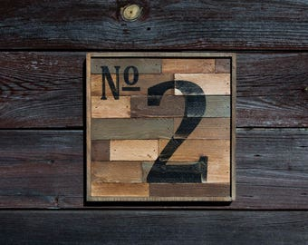 Number Wood Sign Wall Decor
