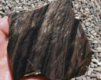Mahogany Obsidian with Gold Sheen Slab  (65X55X7)