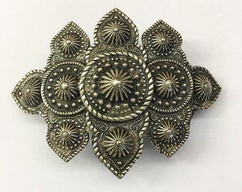"""Vintage """"Metal Pointus"""" pewter hair barrette clip made in France"""