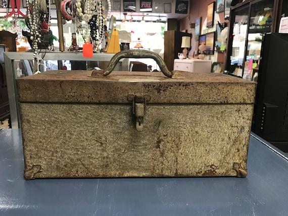 Rustic metal toolbox