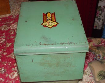 cc-vintage kelloggs recipe box file