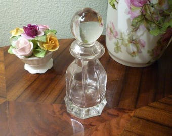 MURANO GLASS PERFUME Bottle. Vintage Perfume Bottle. Collectible Italian Murano Glass Perfume Bottle.