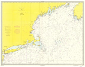 West Quoddy Head to New York - 1965 Nautical Map - Reprint - Big Area AC Chart 70