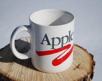 VINTAGE Rainbow Apple Computer Mug