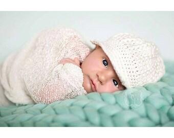 Teal Baby Blanket Newborn Photography Prop