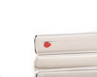 Bookmark Ladybug // Red Ladybird // Bookmark for kids // Nature series // Stylish unique gift for book lover // Free shipping.