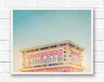 Carnival digital download, photography download, printable fine art photography wall art prints, ticket booth, carnival art, colorful prints