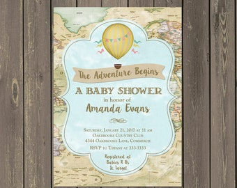 the adventure begins | etsy, Baby shower invitations