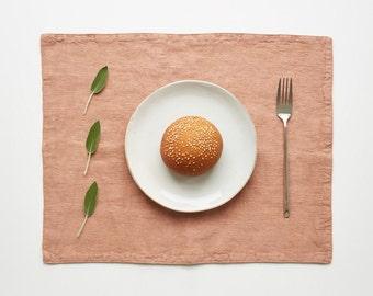 Café Crème Stone Washed Linen Placemat