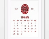 January 2017 Printable Ca...