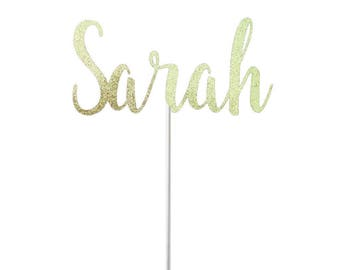 Personalized Name Cake Topper- Any Color Glitter