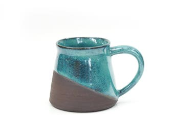 Pottery Cup, Ceramic Mugs Set, Ceramic mug, Large turquoise Pottery mug, Coffee /Tea Stoneware cup, Ceramic Coffee mug, Ceramic mugs
