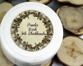"Powder Wash ""Anti-blackheads"", powder cleanser, oily skin powder wash, acne prone skin cleanser, anti-blackheads wash, problematic skin wash"
