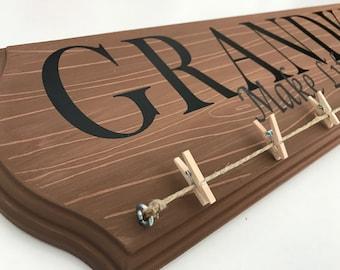 Grandkids Make Life Grand Hand Painted Sign
