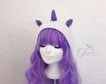 Unicorn (purple-glitter)
