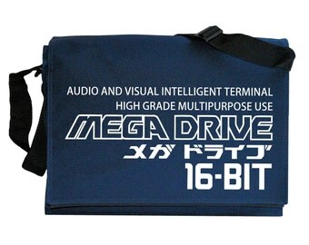 Mega Drive Tribute Intelligent Terminal Navy Blue Messenger Shoulder Bag