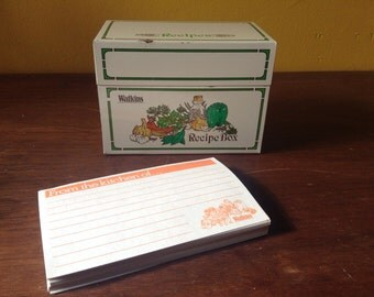Tin Recipe Box Watkinf Vegetable