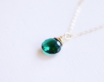 Emerald Quartz Necklace