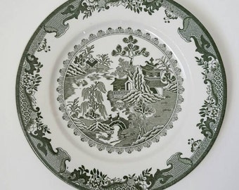 Rare Green Willow Dinner Plate by Shenango replacement