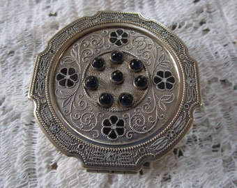 PRICE REDUCED: Vintage Silver Plate Religious Pyx Host/Communion Holder