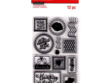 Recollection Clear Stamp Set XOXO Valentine's Day Stamps Series set cc03 CS120