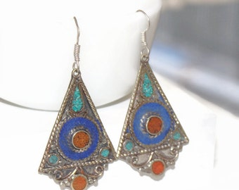 Bohemian Long Earrings / Festival Earrings / Boho Earrings / Hippie Earrings / Southwest Earrings