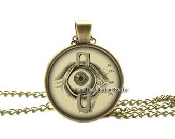 Steampunk Jewelry Human Anatomy Eyeball Necklace Evil Eye Science Medical