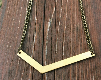 Metal Angle Necklace