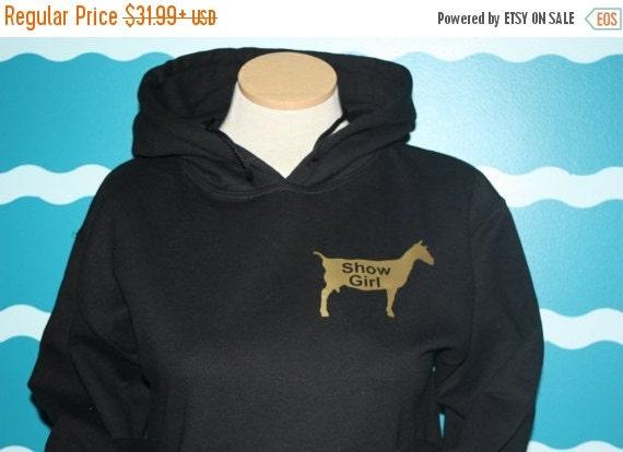 Livestock show girl hooded sweatshirt - show dairy goat Hoodie sweatshirt - 4H show girl hooded sweatshirt - ffa show girl hooded sweatshirt