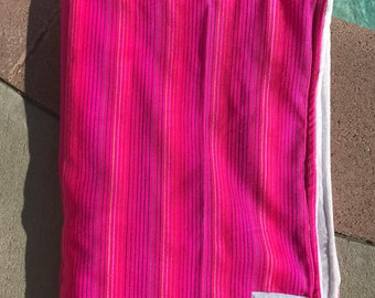 The Encinada Pink Striped Baby Blanket