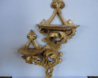Gold Decorative Two Tier Shelf