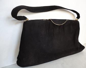 Vintage Bagcraft Black Suede Purse