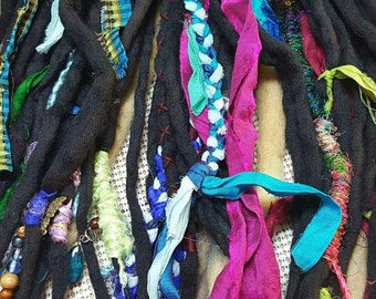 Dread Fall Hippie Dreads Hair Extensions Dreadlocks Gypsy Dreads Ready to Ship