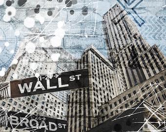 New York   Fine Art Print   Modern Mixed Media Artwork