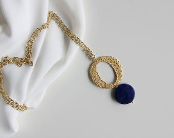 ON SALE Lapis earrings and necklace